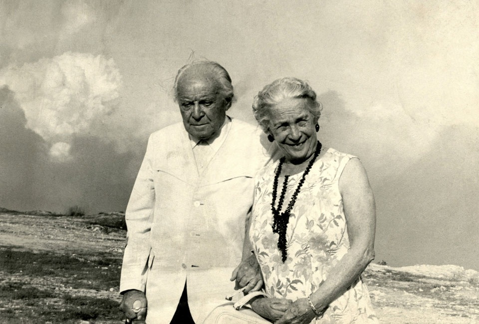Gio Ponti with his wife Giulia